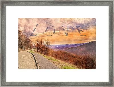 Love Blue Ridge Parkway Framed Print by Betsy C Knapp