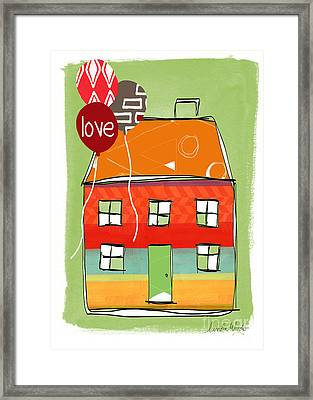Love Card Framed Print by Linda Woods