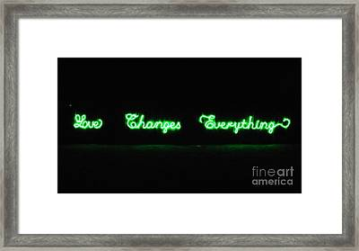 Love Changes Everything Framed Print by Agnieszka Ledwon