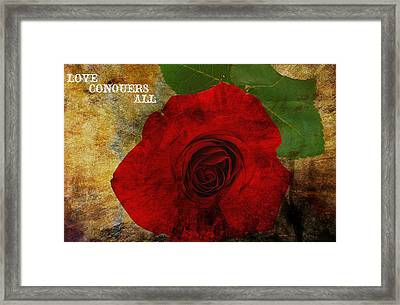 Love Conquers All Framed Print by Dan Sproul