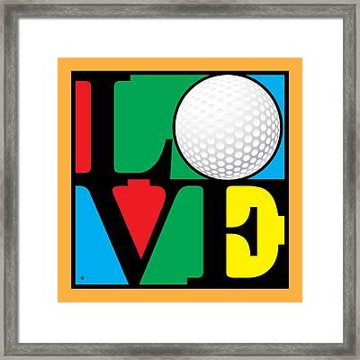 Love Golf Framed Print by Gary Grayson
