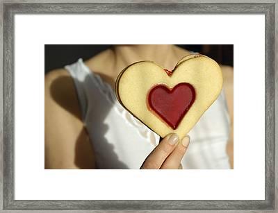 Love Heart Valentine Framed Print by Matthias Hauser