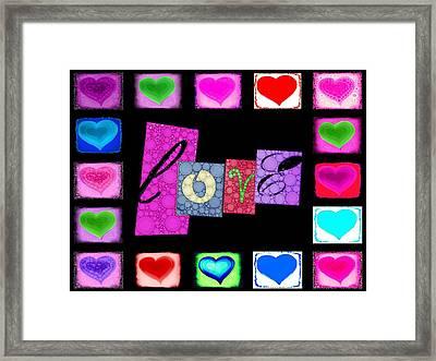 Love Hearts Framed Print by Cindy Edwards