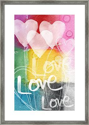 Love Hearts Framed Print by Linda Woods