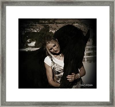 Love Hugs Framed Print by Royal Grove Fine Art