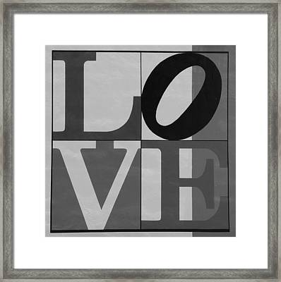Love In Black And White 2 Framed Print by Rob Hans