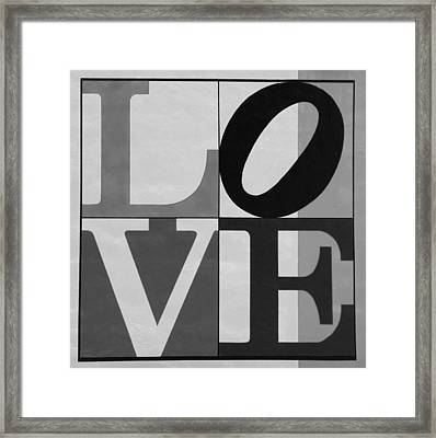 Love In Black And White Framed Print by Rob Hans