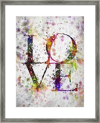 Love In Color Framed Print by Aged Pixel