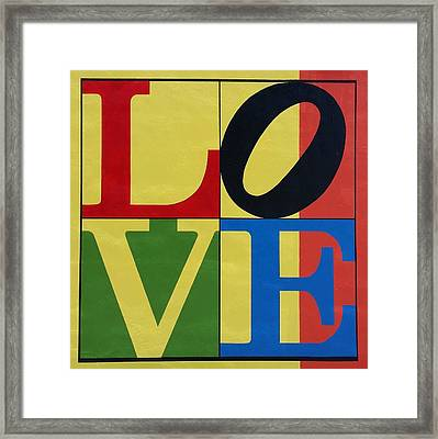 Love In Colors Framed Print by Rob Hans