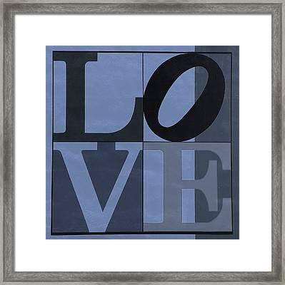 Love In Cyan Framed Print by Rob Hans