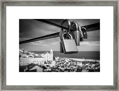 Love In Lisbon Framed Print by Carlos Caetano
