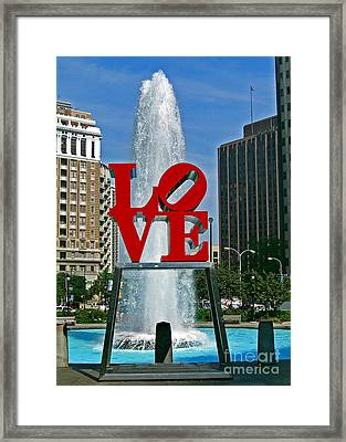 Love In Philly Framed Print by Skip Willits