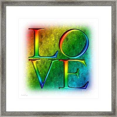 Love In Rainbow Framed Print by Andee Design