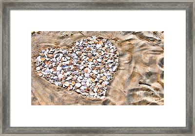 Love In The Sand Framed Print by Colleen Kammerer