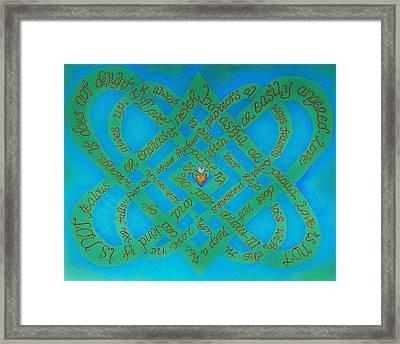 Love Is Blue Framed Print by Hidden  Mountain