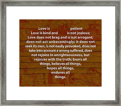 Love Is Framed Print by Design Turnpike