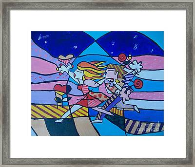 Love Is In The Air Framed Print by Marcus Hudson