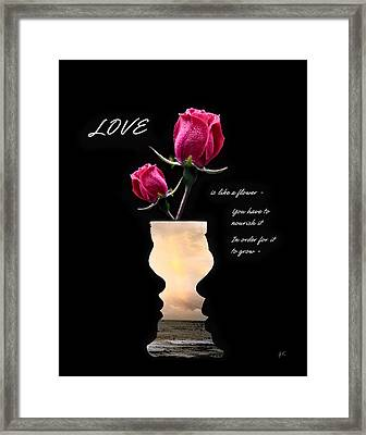 Love Is Like A Flower Framed Print by Gerlinde Keating - Galleria GK Keating Associates Inc