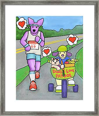 Love Is Making Healthy Choices Framed Print by Yvonne Lozano