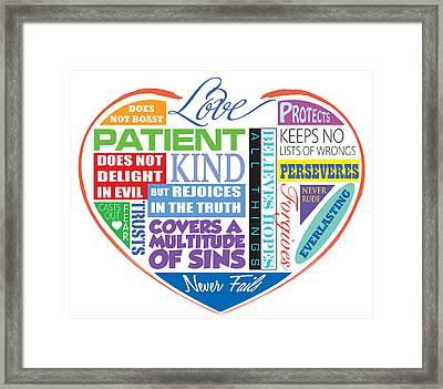 Love Is Patient Framed Print by Greg Joens