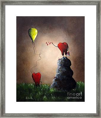 Love Is Playful By Shawna Erback Framed Print by Shawna Erback
