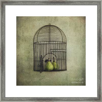 Love Is The Key Framed Print by Priska Wettstein