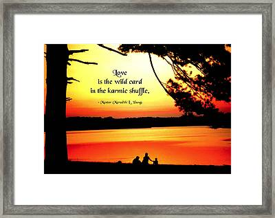 Love Is The Wild Card Framed Print by Mike Flynn