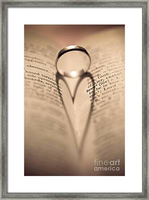 Love Framed Print by Jan Bickerton