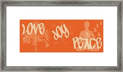 Love Joy Peace Framed Print by Georgia Fowler