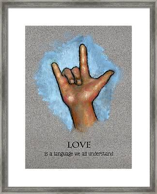 Love Language Sign Language Framed Print by Joyce Geleynse