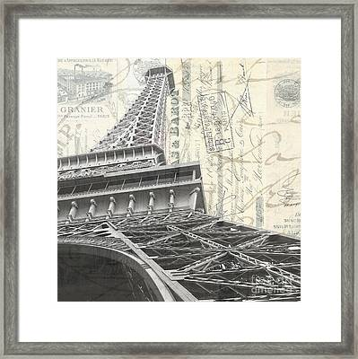 Love Letter From Paris Square Framed Print by Edward Fielding