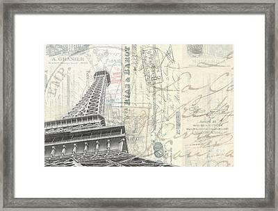 Love Letter From Paris Wide Framed Print by Edward Fielding