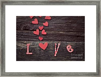Love Letters Framed Print by Mythja  Photography