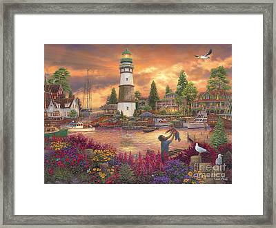 Love Lifted Me Framed Print by Chuck Pinson
