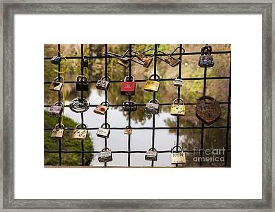 Love Locks Framed Print by Juan Romagosa