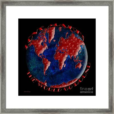 Love Makes The World Go Round 2 Framed Print by Andee Design