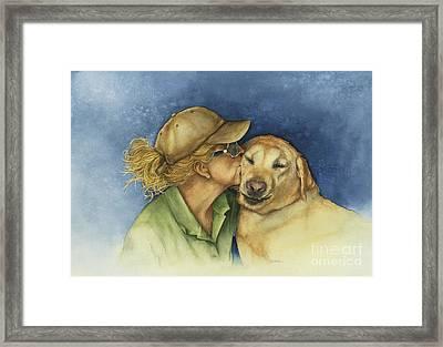 Love Me Love My Dog Framed Print by Nan Wright