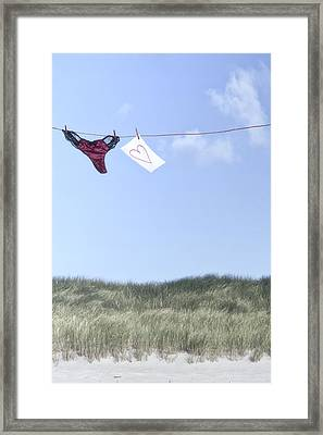 Love Message From Cloud 9 Framed Print by Joana Kruse