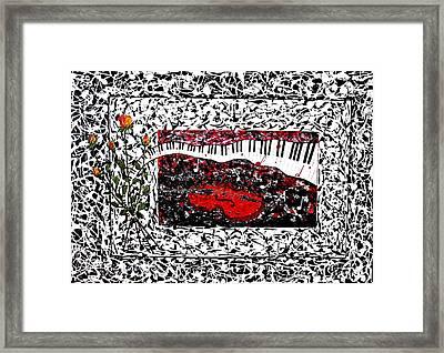 Love Music Memories Original Acrylic Painting  Framed Print by Georgeta Blanaru