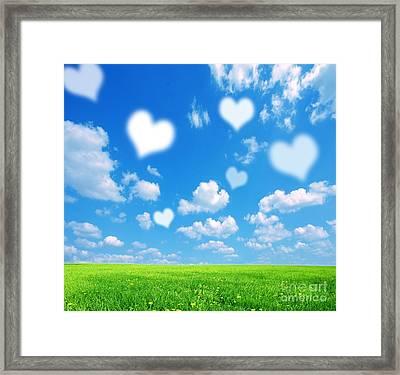 Love Nature Background Framed Print by Michal Bednarek