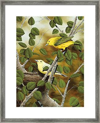 Love Nest Framed Print by Rick Bainbridge