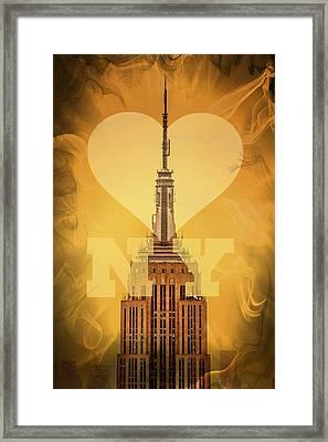 Love New York Framed Print by Az Jackson