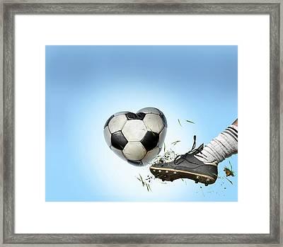 Love Of Football Framed Print by Smetek