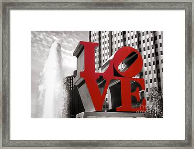 Love Framed Print by Olivier Le Queinec