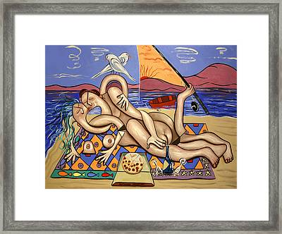 Love On A Deserted Island Framed Print by Anthony Falbo