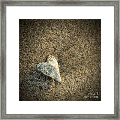Love On The Beach Framed Print by Peggy Hughes