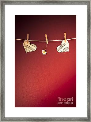 Love On The Line Framed Print by Jan Bickerton