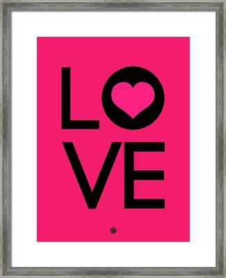 Love Poster 5 Framed Print by Naxart Studio