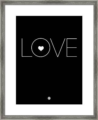 Love Poster Black Framed Print by Naxart Studio