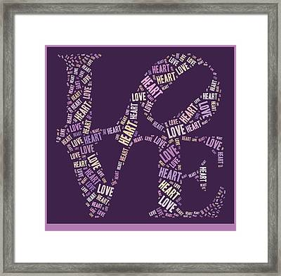 Love Quatro - Heart - S77a Framed Print by Variance Collections